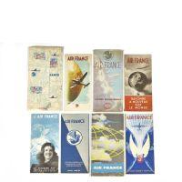 AIR FRANCE - Huit brochures publicitaires
