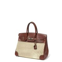 HERMES Paris made in france Sac 'Birkin' 35 cm en veau Chamonix rouge