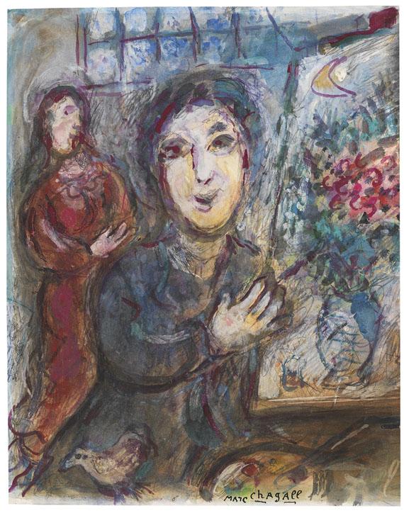 Marc ChagallLe peintre dans son atelier, 1976.