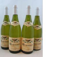 4 bouteilles MEURSAULT 2008 Domaine Coche Dury -