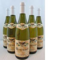 5 bouteilles MEURSAULT 2007 Domaine Coche Dury -