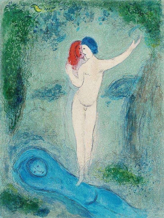 Marc ChagallDer Kuss Chloes, 1961.