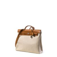 HERMES Paris made in france Sac 'Herbag' (GM) en toile 'Hermès' beige,