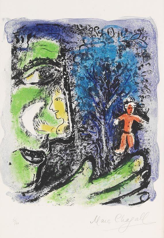 Marc ChagallLe Profil et l'enfant rouge, 1960.