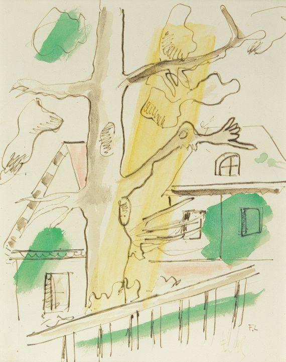 Fernand LégerComposition à l'arbre, 1948.