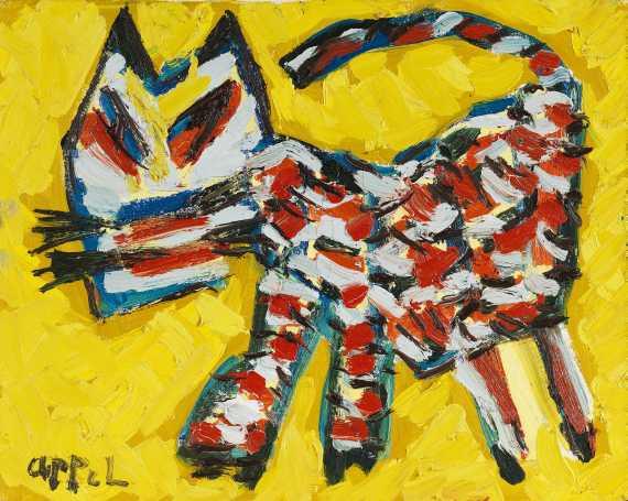 Karel AppelWalking cat, 1981.