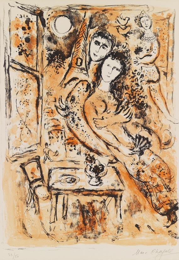 Marc ChagallPärchen mit Fächer, 1963.