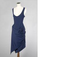 Jean-Paul GAULTIER Femme ROBE-BODY sans manches en jersey bleu encre -