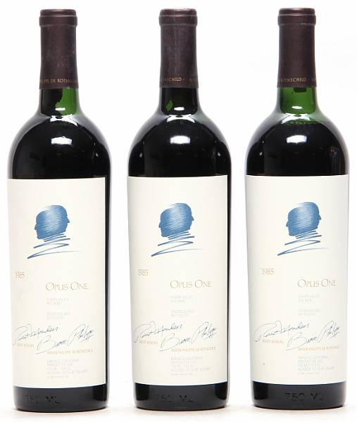 3 bts. Opus One, Mondavi & Rothschild, Napa Valley 1985