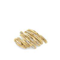 FABERGE PARIS  Clip de corsage en or jaune et or gris  formé de bâtonn
