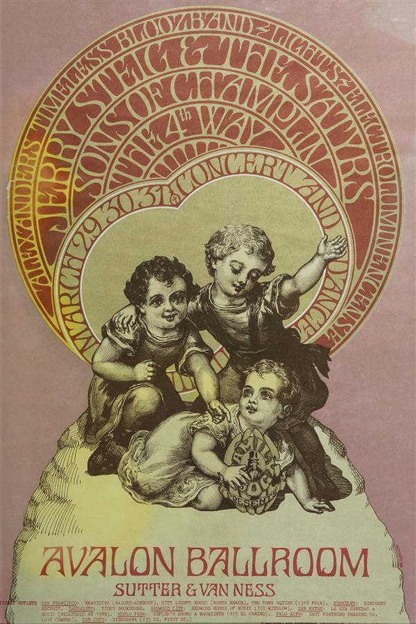 BOB SCHNEPF THE FOURTH WAY POSTER, 1968. Affiche de la série Family Dog poster, pour un concert au Avalon Ballroom, San Francisco. 50 x 33,8 cm