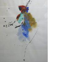 Jean MIOTTE (né en 1926) SANS TITRE, 1976 Acrylique et aquarelle sur p