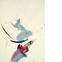 Jean MIOTTE (né en 1926) COMPOSITION, 1986 Huile et aquarelle sur papi