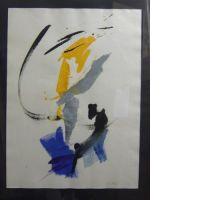 Jean MIOTTE (né en 1926) COMPOSITION ABSTRAITE, 1984 Gouache et aquare