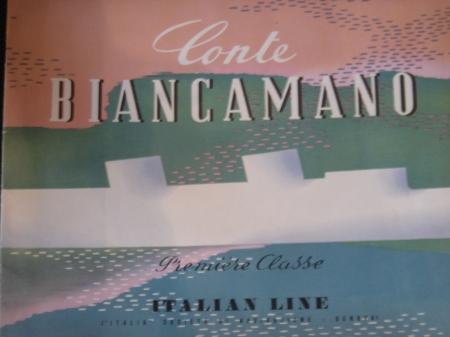 Ensemble de deux brochures de l'ITALIAN LINE :