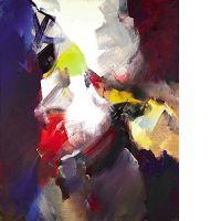 Jean MIOTTE (né en 1926) COMPOSITION huile sur toile