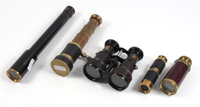 Five Telescopes and binoculars