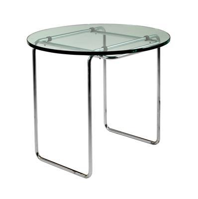 A B18 tubular steel table, designed by Marcel Breuer,