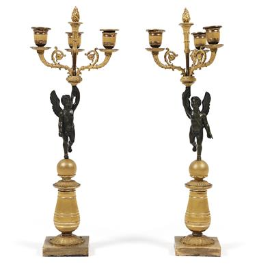 Pair of French candelabras,