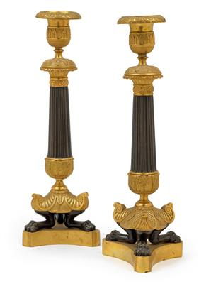 A pair of candelabras