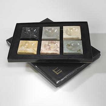 ashtrays, set of six