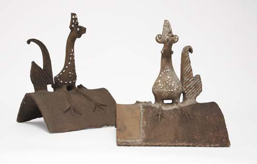 Two Indonesian roof tiles