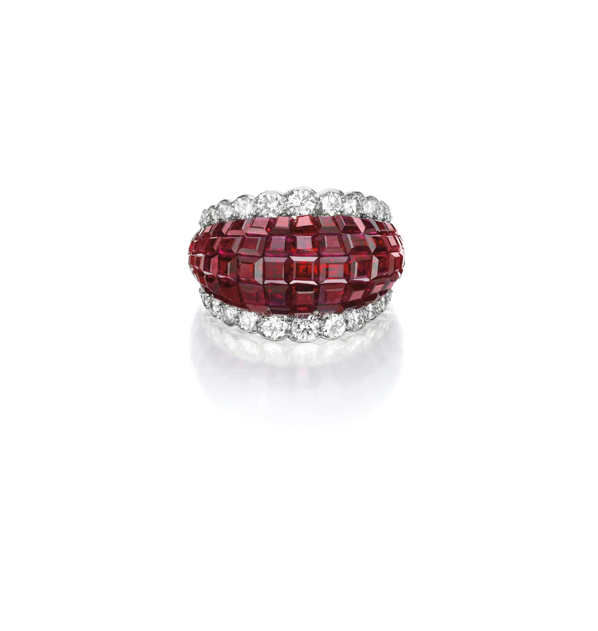 A 'Mystery-Set' Ruby and Diamond Ring