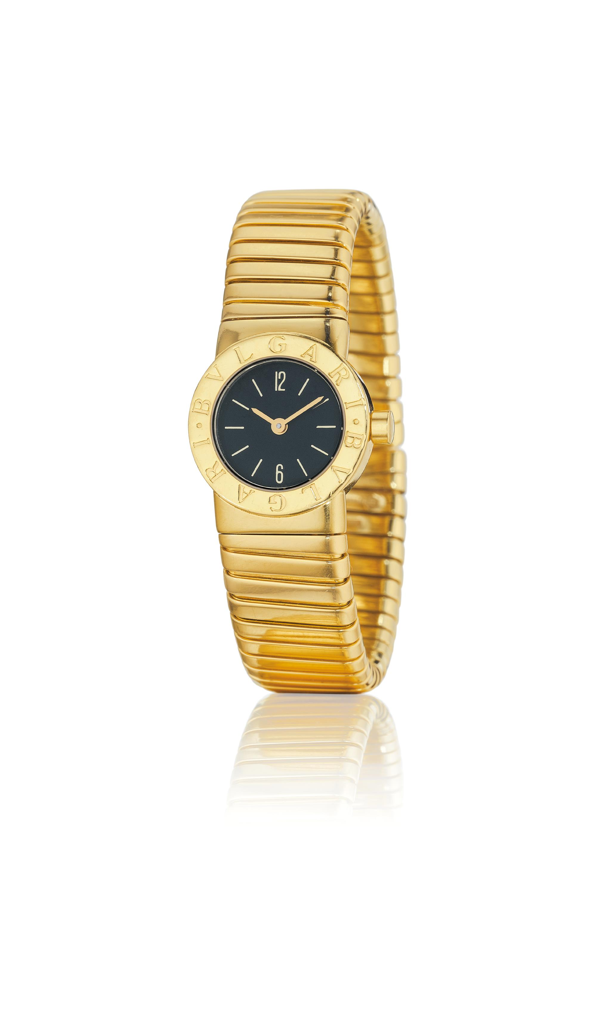 A Lady's Gold 'Tubogas' Wristwatch