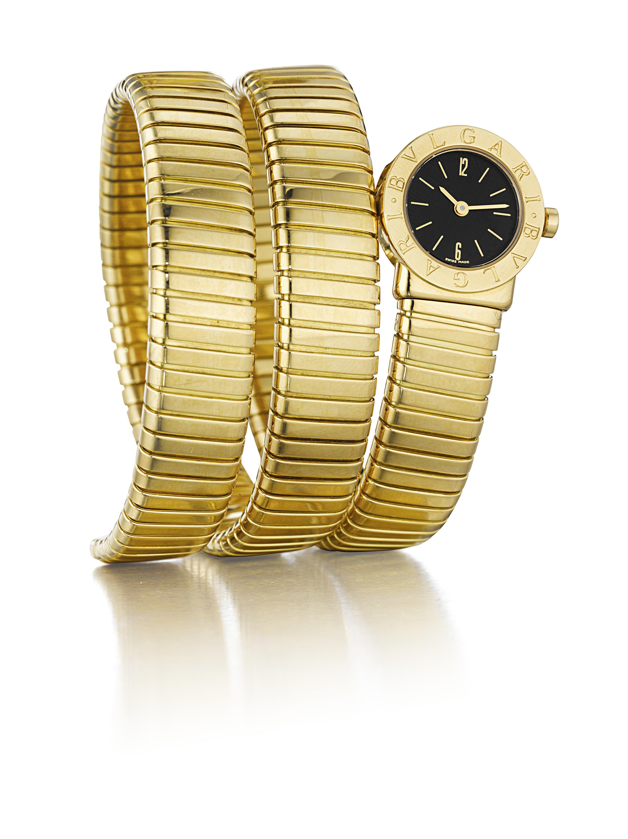 A Gold 'Tubogas' Lady's Wristwatch