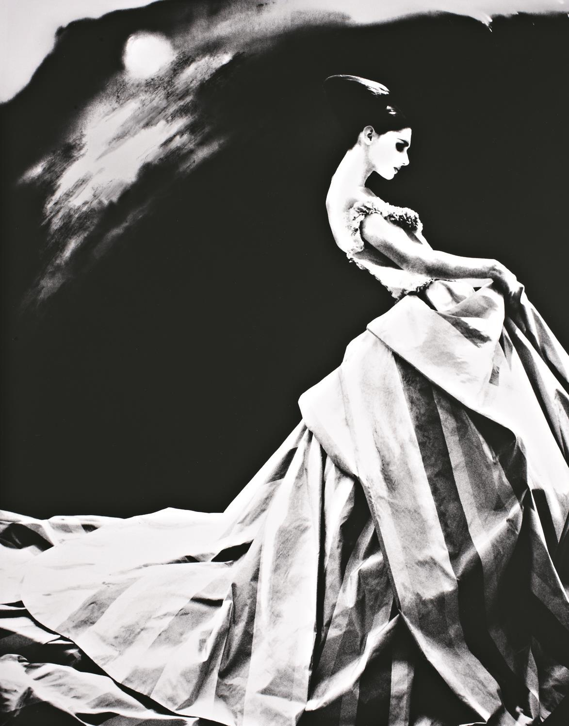 Night Bloom. Anneliese Seubert, Paris, New York Times Magazine [Ball gown by Givenchy by John Galliano]