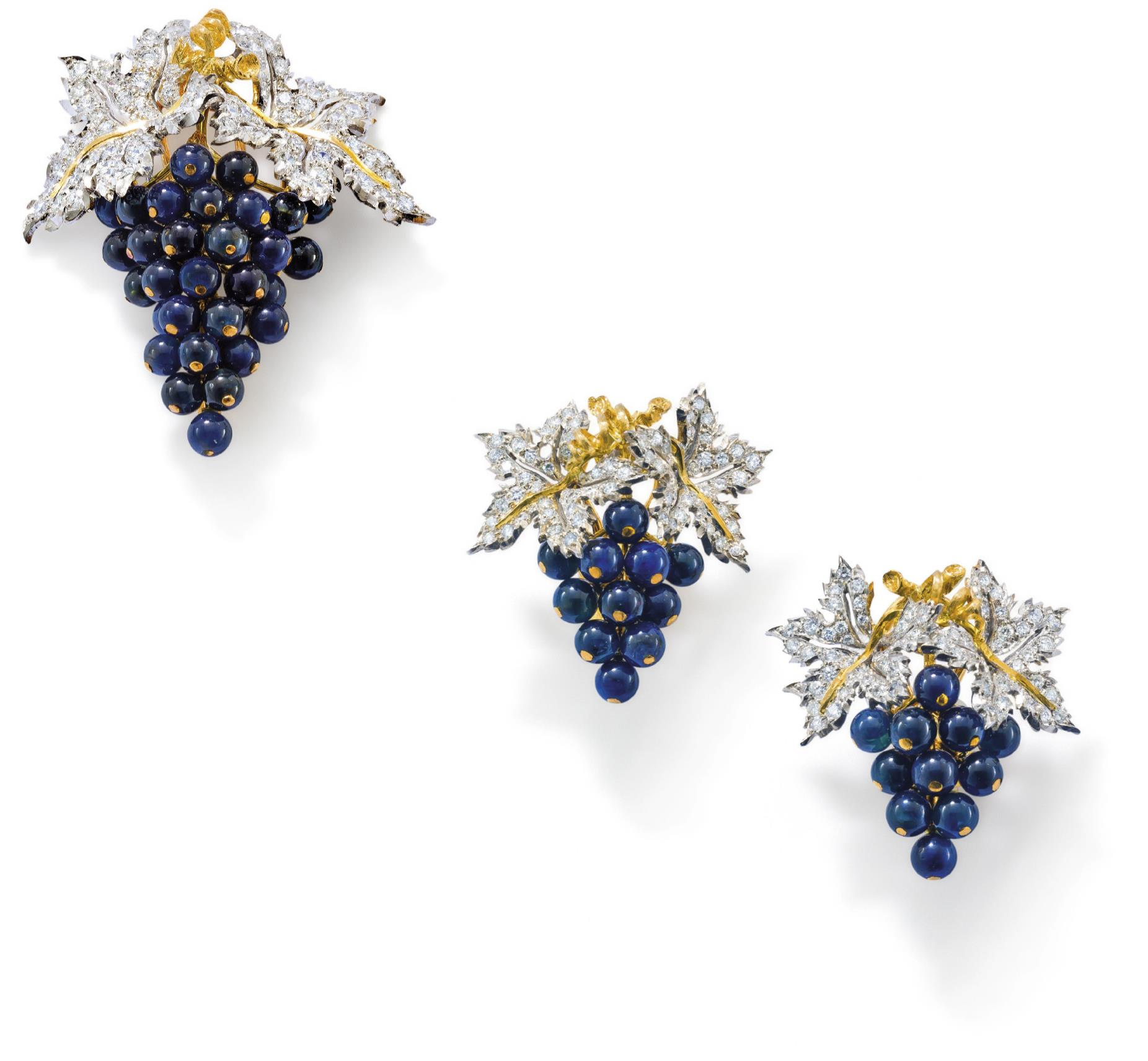 A suite of diamond and sapphire jewellery, by Buccellati