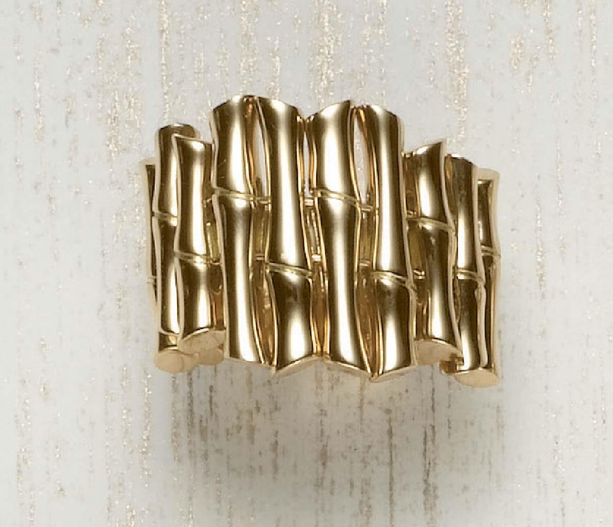 A Yellow Gold 'Bamboo' Ring