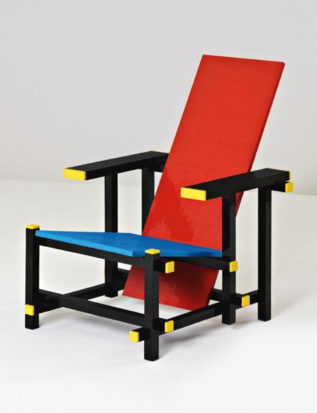 'Red Blue LEGO® Chair'