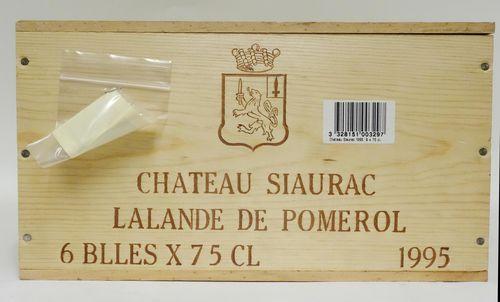 6 bts Lalande de Pomerol Château Siaurac    0.75L  OWC 6 1995