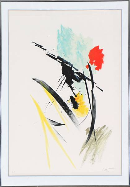 Jean Miotte: Untitled. Signed Miotte H.C. Lithograph in colours. Visible size 74 x54 cm.