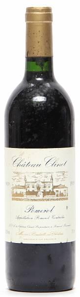 1 bt. Château Clinet, Pomerol 1989 A-A/B (bn).