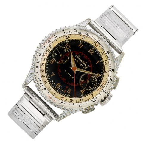 Gentleman's Stainless Steel 'Slide-Rule Chronomat' Chronograph Wristwatch, Breitling, Ref. 769