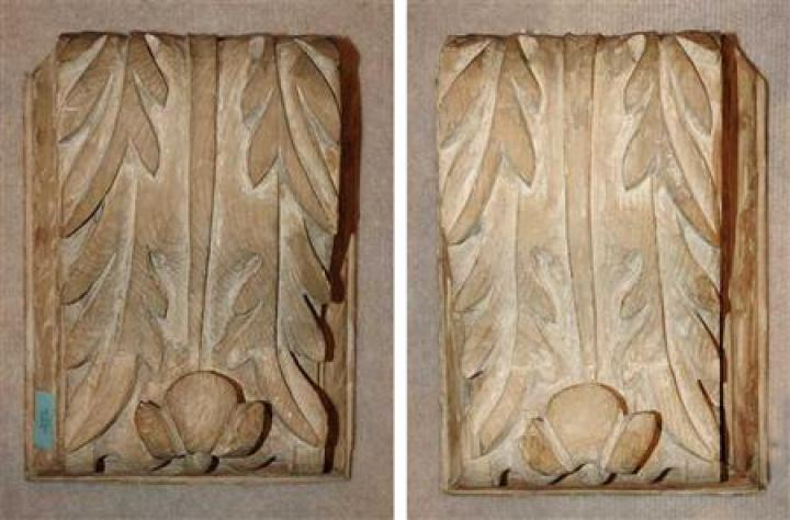 Pair of Neoclassical Style Carved Wood Corbels