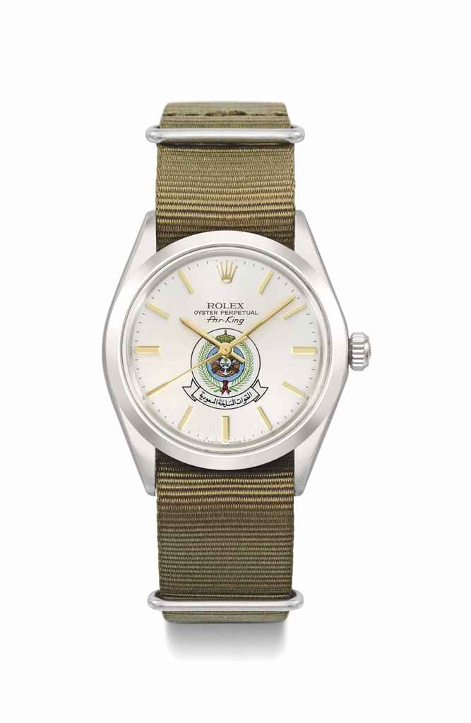 Rolex. A stainless steel automatic wristwatch with sweep centre seconds, made for the Saudi Arabian Armed Forces