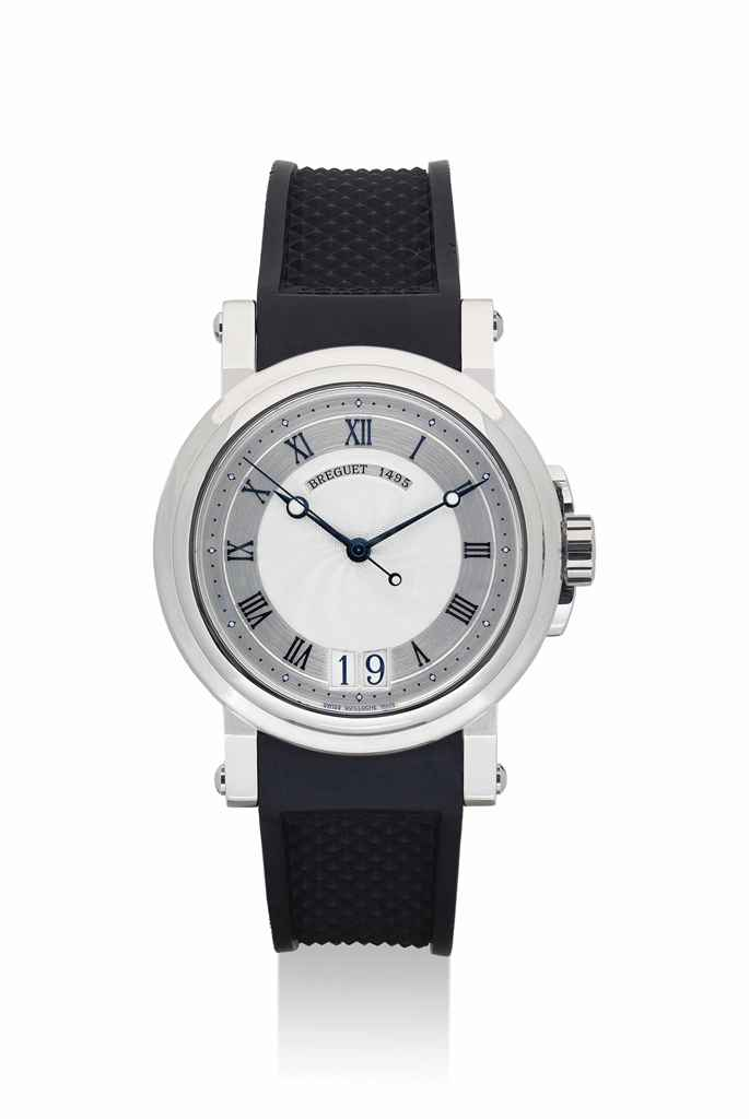 BREGUET. A STAINLESS STEEL AUTOMATIC WRISTWATCH WITH SWEEP CENTRE SECONDS AND DATE