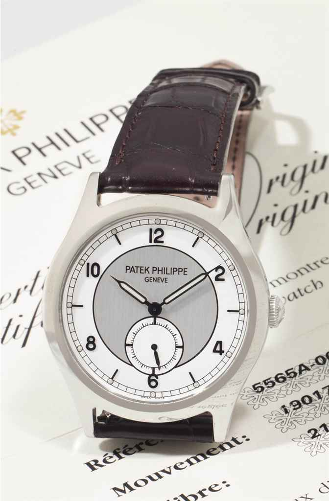 Patek Philippe. A Fine and Rare Stainless Steel Limited Edition Wristwatch with Two-Tone Silvered Dial, Made to Commemorate the Reopening of the Firm's Salons in Geneva in 2006