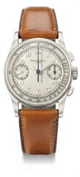Patek Philippe. A very fine and rare stainless steel chronograph wristwatch with Breguet numerals