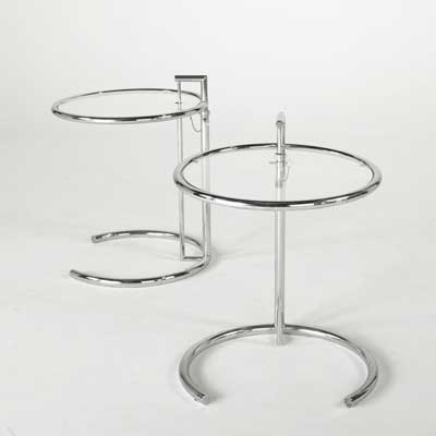 EILEEN GRAY; Pair of side tables;...