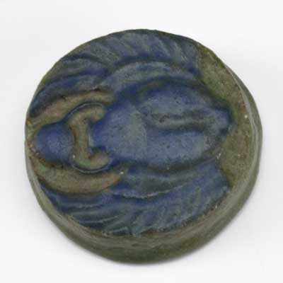 GRUEBY; Scarab paperweight; Stamped...