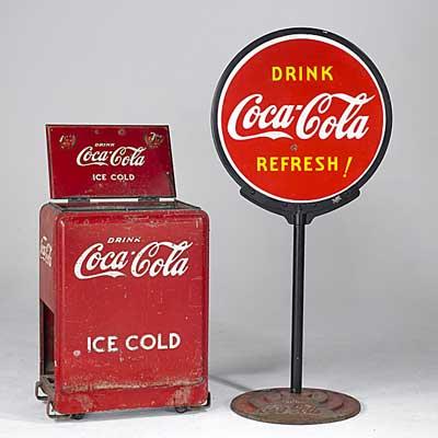 COCA-COLA ADVERTISING; Bottle...