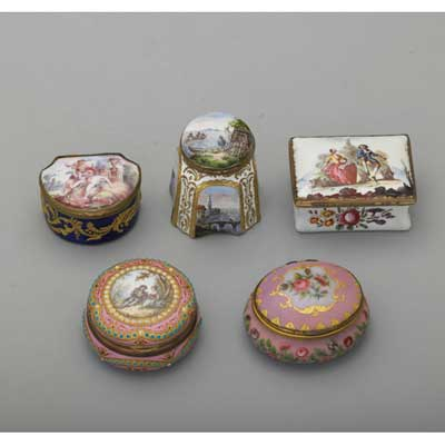 SOUTH STAFFORSHIRE ENAMELED INKWELL...