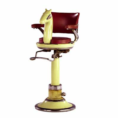 "Child""s barber chair with..."