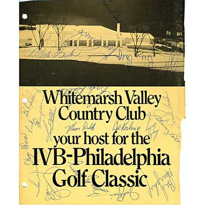 GOLF AUTOGRAPHS; IVB - Phildelphia...