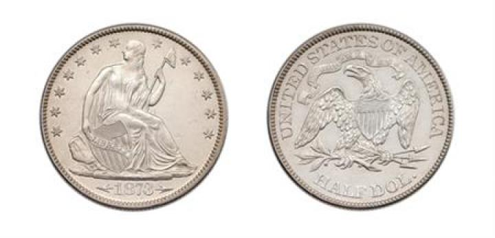 1873 Liberty Seated Half-Dollar, With Arrows