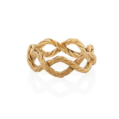 BUCCELLATI ROPED 18K YELLOW GOLD...